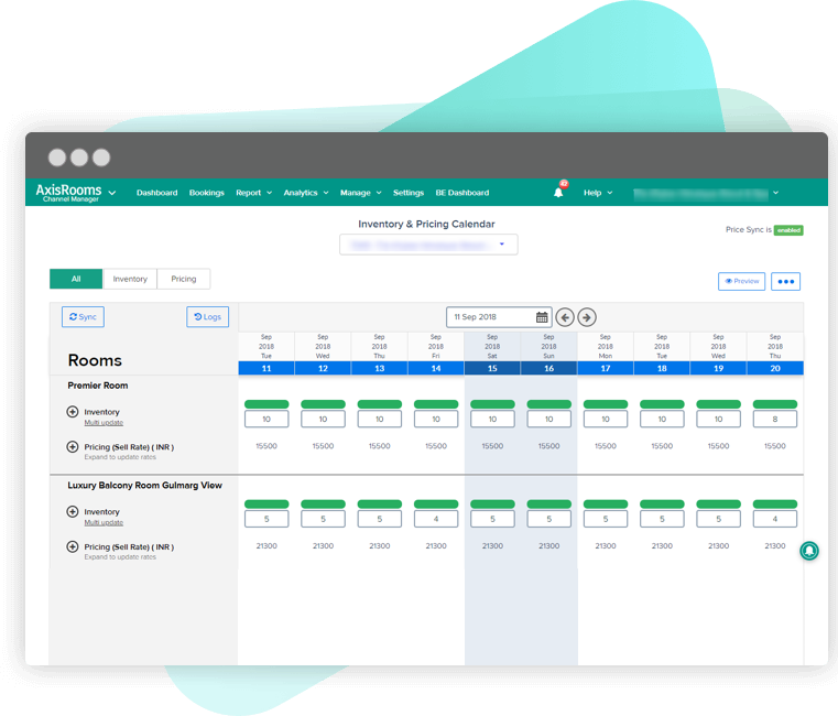 AxisRooms | Channel Manager For Hotels | Manage Your Inventory & Price